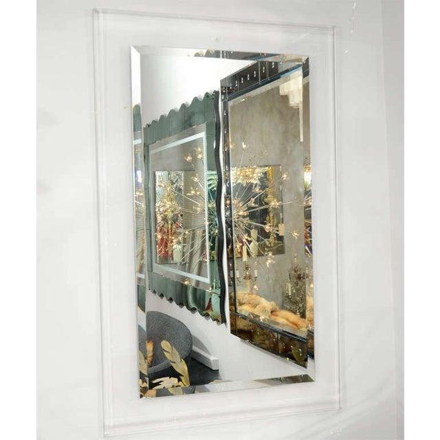 2000 - 2009 Custom Lucite Framed Mirror For Sale - Image 5 of 5