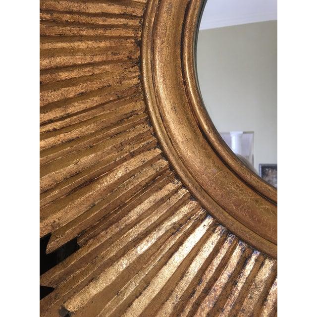 Wood Gilt Wood Sunburst Mirror For Sale - Image 7 of 13