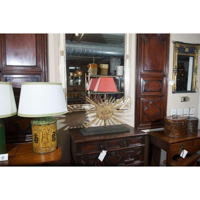 Gold Carved Giltwood Sunburst mounted as a Lamp For Sale - Image 8 of 8