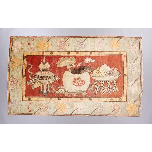 Beige Ground Khotan Rug For Sale - Image 4 of 4