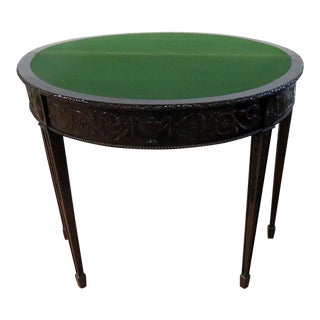 Early 20th Century Adams Style Flip Top Game Table For Sale