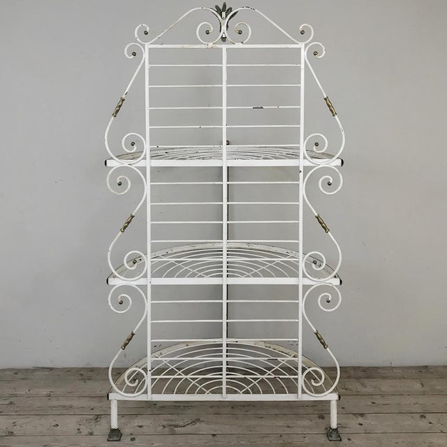 19th Century French Wrought Iron Demilune Baker's Rack For Sale - Image 11 of 12