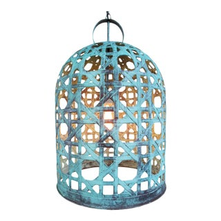 Copper Fish Basket Bell Lantern Medium