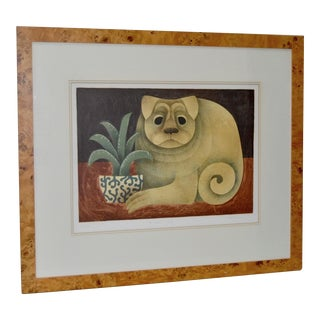 """Carol Jablonsky """"Chinese Dog"""" Limited Edition Lithograph c.1970s"""