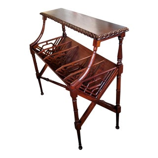 Early 20th C. American Nouveau Magazine Rack Console For Sale