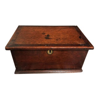 18th Century Antique George III Oak Document Box For Sale