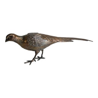 Wallace Silverplate Pheasant Figure Statue For Sale