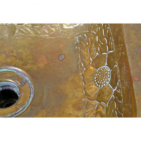 Metal 1920s Art Deco Brass Sink For Sale - Image 7 of 12