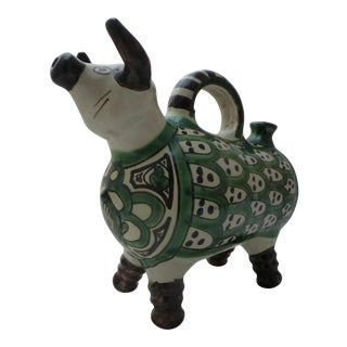 Domingo Punter Mid-Century Abstract Bull Pottery Pitcher