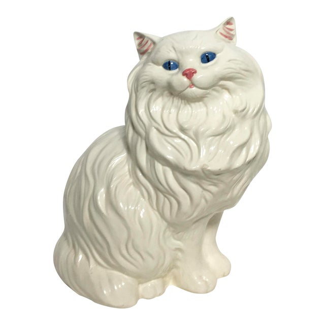 vintage ceramic cat statue chairish