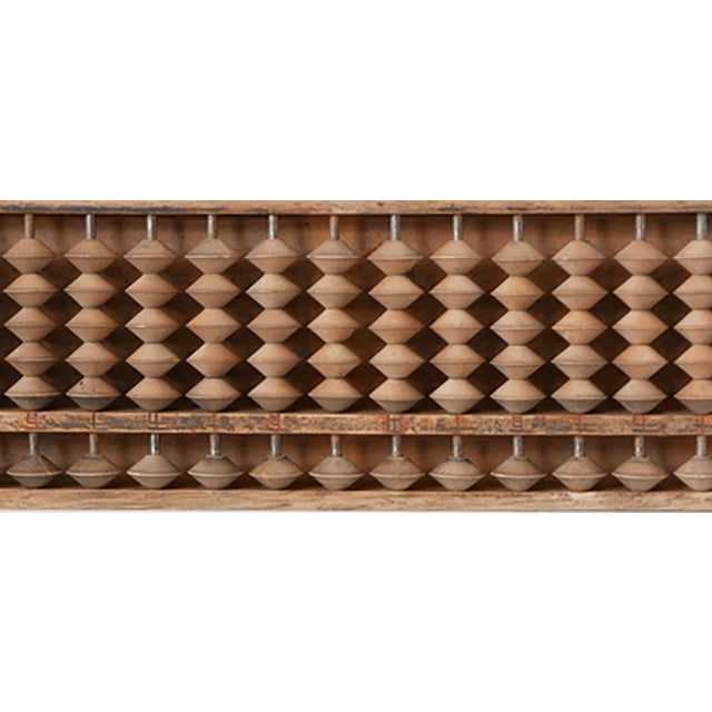 Asian 1940s Vintage Wooden Abacus For Sale - Image 3 of 5