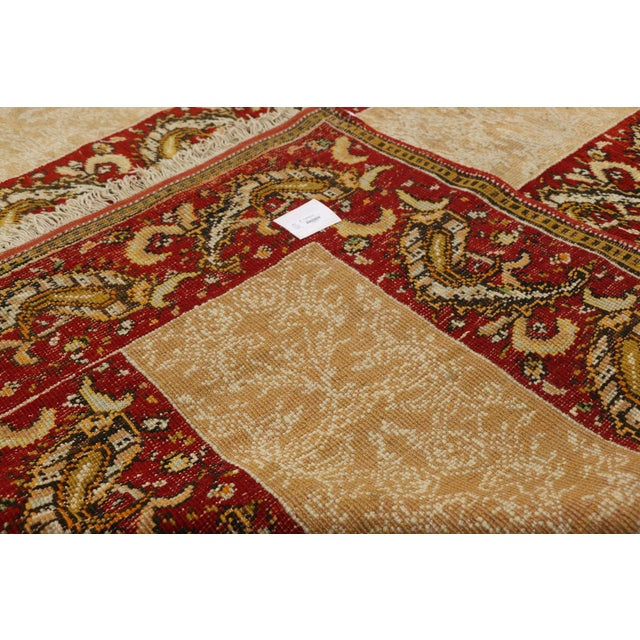 Early 20th Century Antique Turkish Oushak Rug - 16'00 X 15'07 For Sale - Image 5 of 10