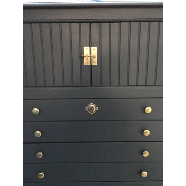 National Mount Airy Black & Gold Beadboard Dresser - Image 3 of 10