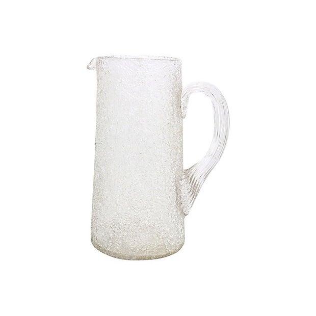 Cabin 1920s Crackle Glass Beverage Set, 3Pcs For Sale - Image 3 of 5