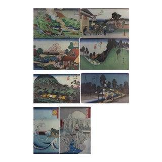 Glimpses of Old Japan Landscapes Color Prints, 1936 - Set of 8