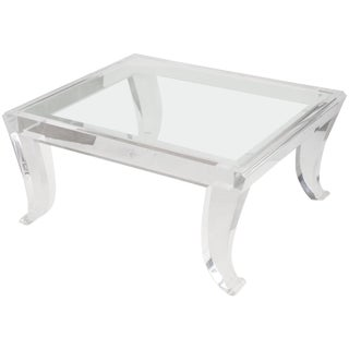 20th Century Hand Signed Lucite Table For Sale