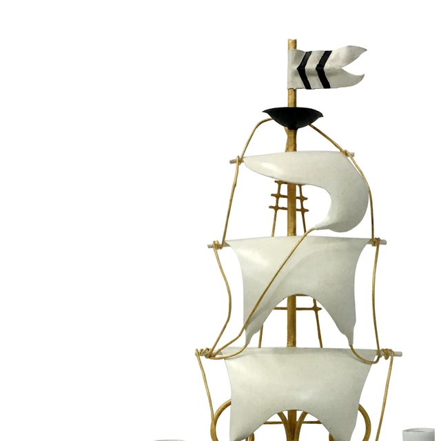 Vintage Nautical Ship Wall Sconce Lighting For Sale - Image 4 of 8