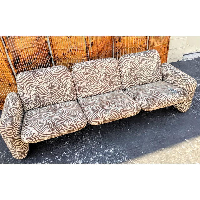 "Boho Chic 1980s Contemporary Ray Wilkes for Herman Miller ""Chicklet"" Sofa For Sale - Image 3 of 9"