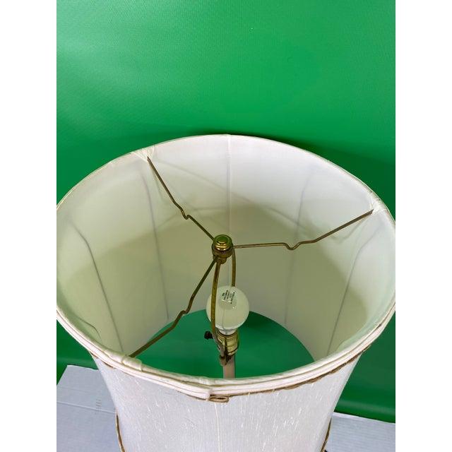 Vintage 1960s Mid Century Modern Stiffel Solid Brass Column Turn Knob Lamp For Sale In Detroit - Image 6 of 9