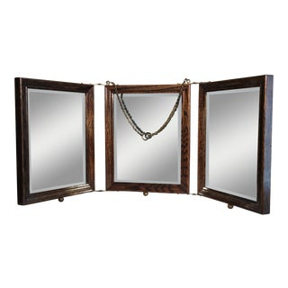 Vintage Trifold Celluloid Shaving Mirror For Sale