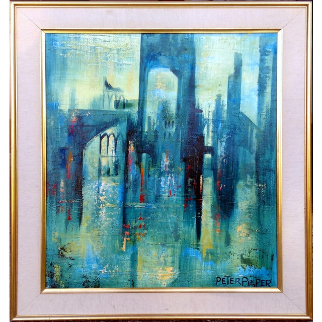 Abstract Architecture Acrylic Painting By Peter Pieper
