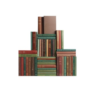 Modern Harvest Book Wall : Set of Fifty Decorative Books For Sale