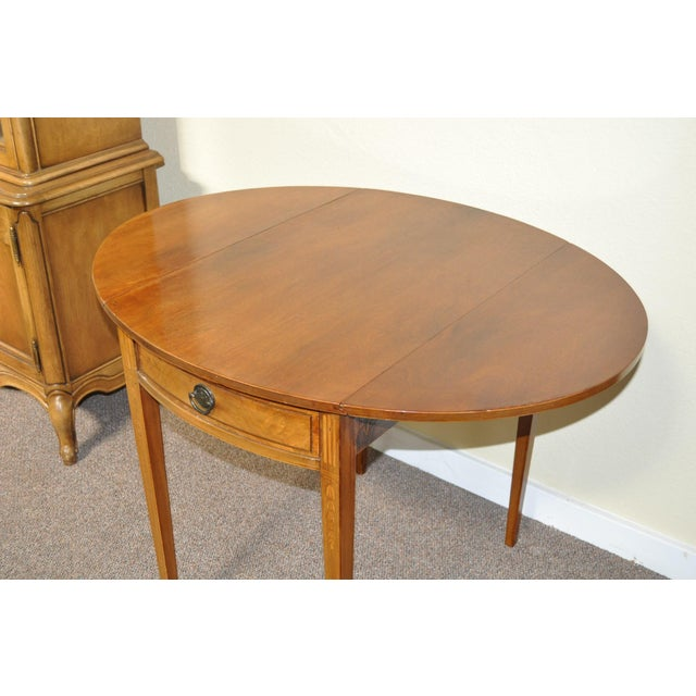 American Drop Leaf Side Table With Drawer C.1915 - Image 9 of 9