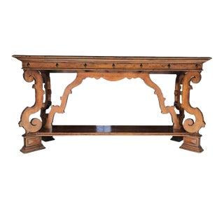Vintage Italian Henredon Castellina Wooden Credenza For Sale