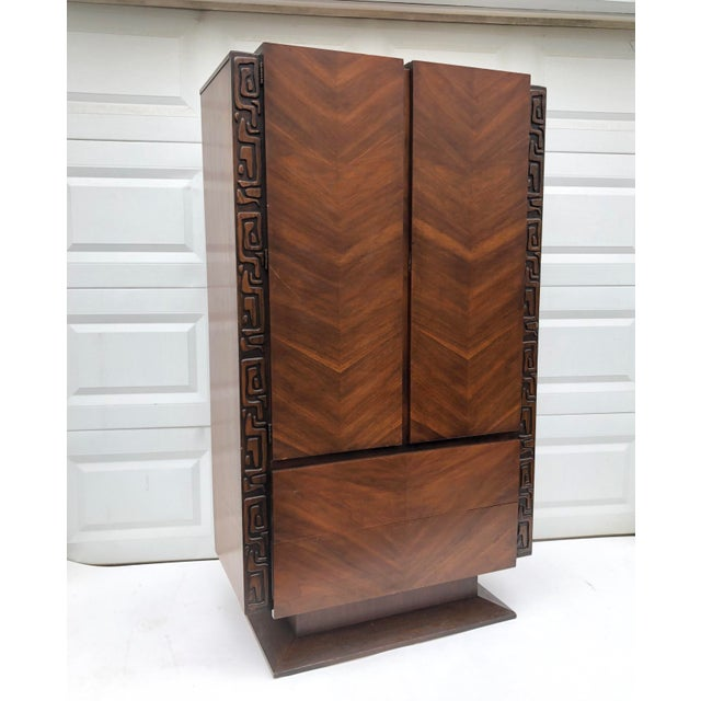 Tall Mid-Century Witco Style Armoire by United Furniture For Sale - Image 13 of 13