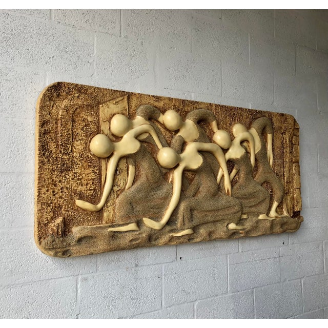 Mid-Century Modern Large Vintage Mid Century Modern Brutalist Finesse Originals Fiberglass Wall Hanging Sculpture For Sale - Image 3 of 13
