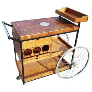 Bill W. Sanders 1964 Rolling Bar Cart or Trolley