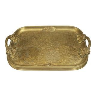 French Art Nouveau Gilt Bronze Serving Tray