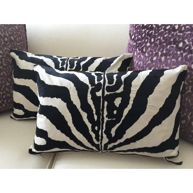 Embroidered Zebra Accent Pillow - NEW! - Image 4 of 4