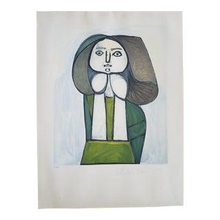 """Pablo Picasso """"Portrait De Femme a La Robe Verte"""" Lithograph"""