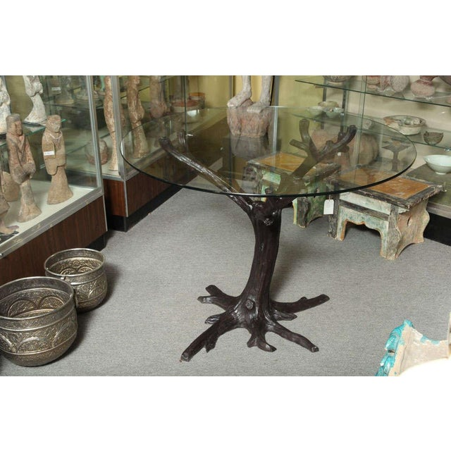 Asian Contemporary Bronze Sculptural Tree-Trunk Dining Table Base From Thailand For Sale - Image 3 of 10