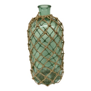 Large Rope Covered Glass Jar