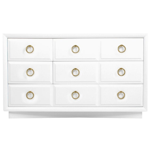 Robsjohn Gibbings Widdicomb White Dresser For Sale