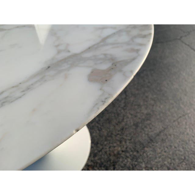 Stone Mid-Century Modern Eero Saarinen Marble Oval Dining Table for Knoll For Sale - Image 7 of 13
