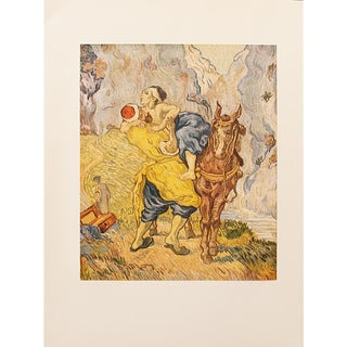 1950s Vincent Van Gogh, First Edition Lithograph the Good Samaritan (After Delacroix) For Sale