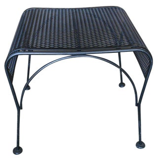 Woodard Modernist Mesh Steel Outdoor or Patio Ottoman, circa 1950