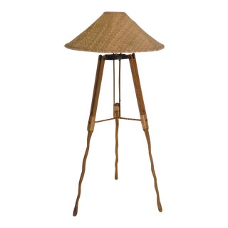 Australian Palm Wood Floor Lamp For Sale