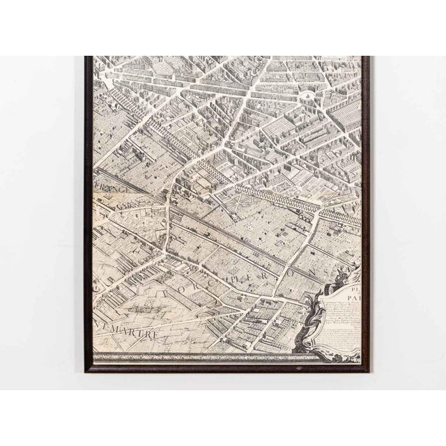 Illustration Antique Map of Paris For Sale - Image 3 of 6