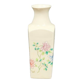 Vintage Cho Cho Chinoiserie Floral Vase For Sale