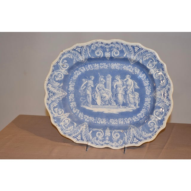 """1830s """"Etruscan"""" Platter For Sale In Greensboro - Image 6 of 6"""