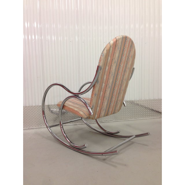 Mid Century Modern Chrome Rocking Chair For Sale - Image 7 of 7