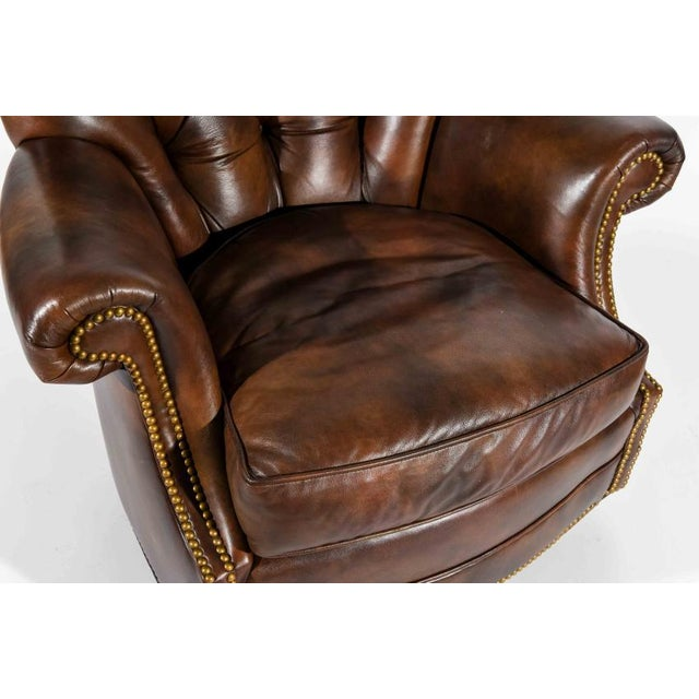 Plastic Chesterfield Style Tufted Rocker with Brass Nailheads For Sale - Image 7 of 11