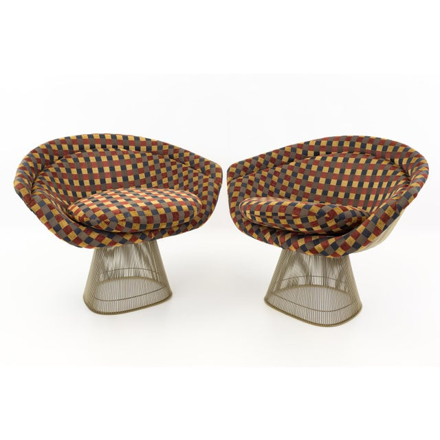 Mid Century Modern Warren Platner Lounge Chairs - a Pair For Sale - Image 9 of 9