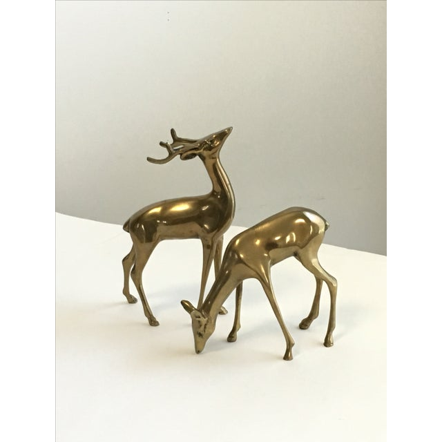Brass Deer Figurines - A Pair - Image 2 of 7