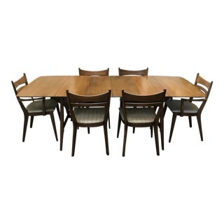 Mid-Century Modern Heywood Wakefield Drop-Leaf Dining Set For Sale