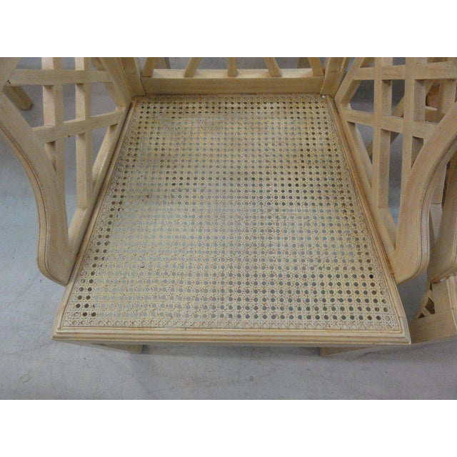 Palm Beach Regency Fretwork Chairs - Set of 6 - Image 2 of 11